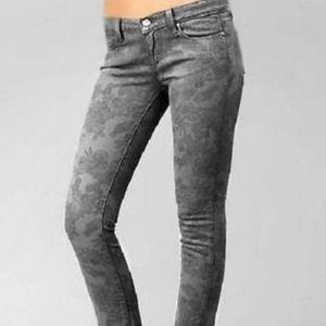 PAIGE Peg Skinny Floral Jeans Size 27